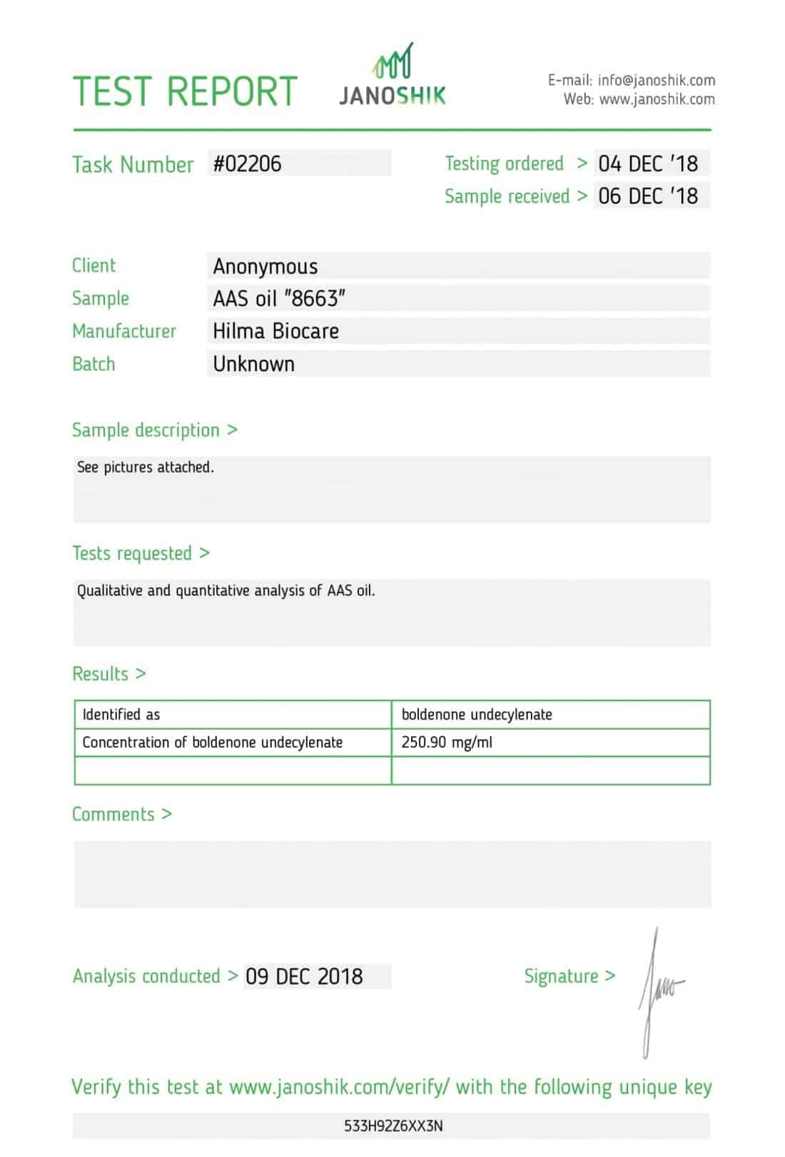 Hilma Biocare Boldenone