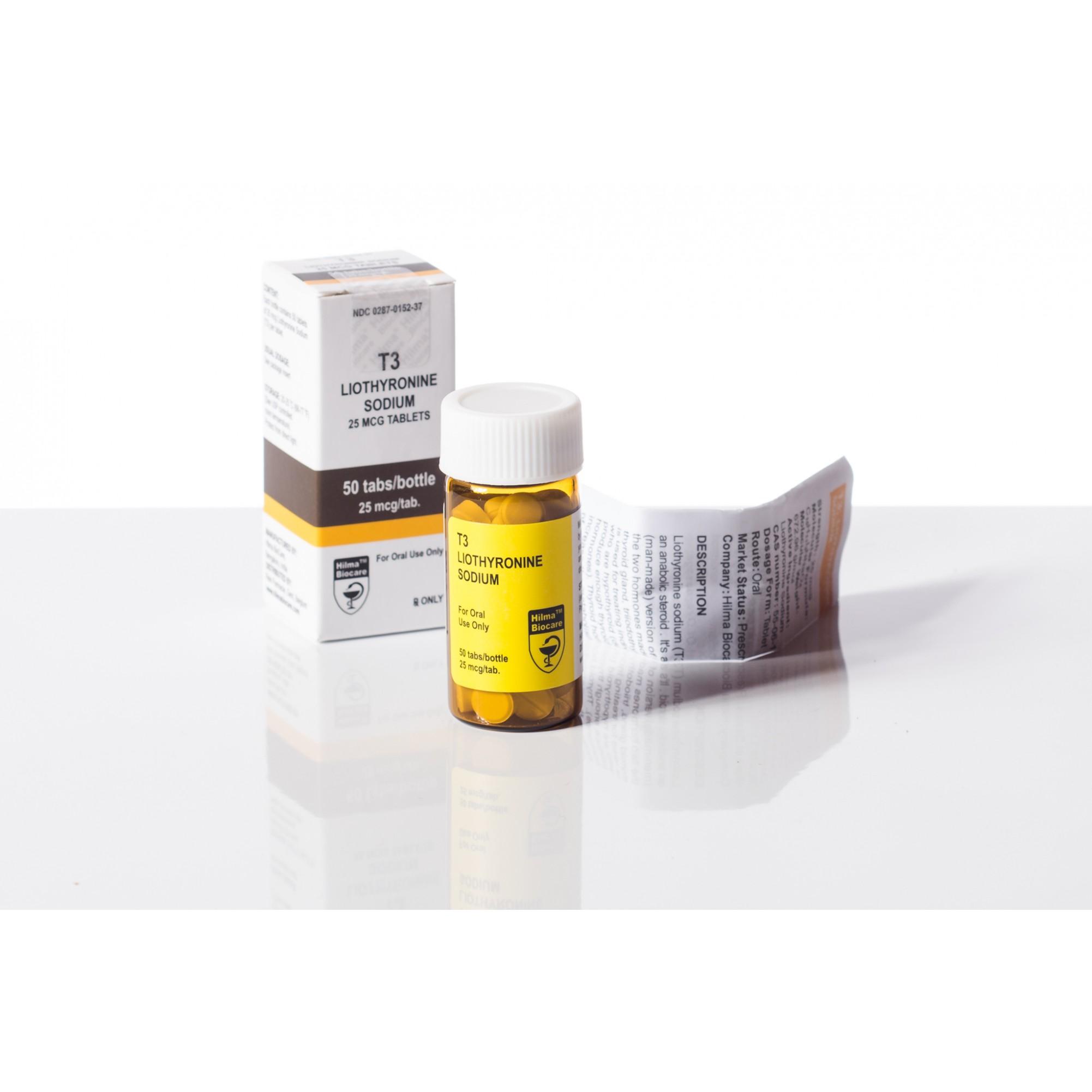 Hilma Biocare T3 Liothyronine Sodium 25 Mcg 50 Tabs Pack