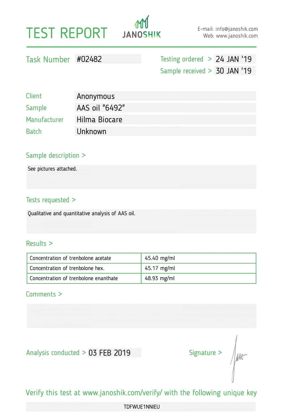 Hilma Biocare Trenbolone Mix
